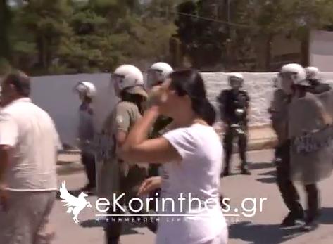 Το βίντεο της ...ατυχούς πολιορκίας της Χρυσής Αυγής στη Κόρινθο.