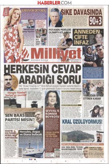 `Μήπως ο Οτζαλάν δεν είναι στη νήσο Ιμραλί` ρωτάει ο τουρκικός Τύπος.