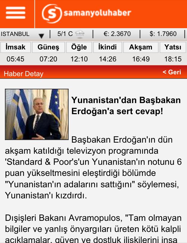 Έκπληκτοι οι Τούρκοι από την απάντηση Αβραμόπουλου γιατί είχαν μάθει να είμαστε υποτακτικοί.