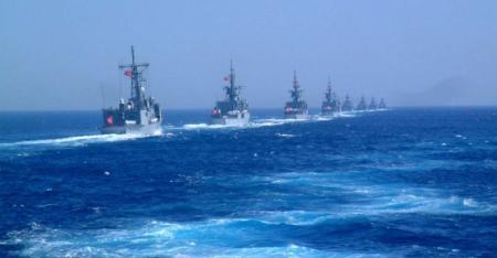 O τουρκικός στόλος κατέβηκε στη Μεσόγειο