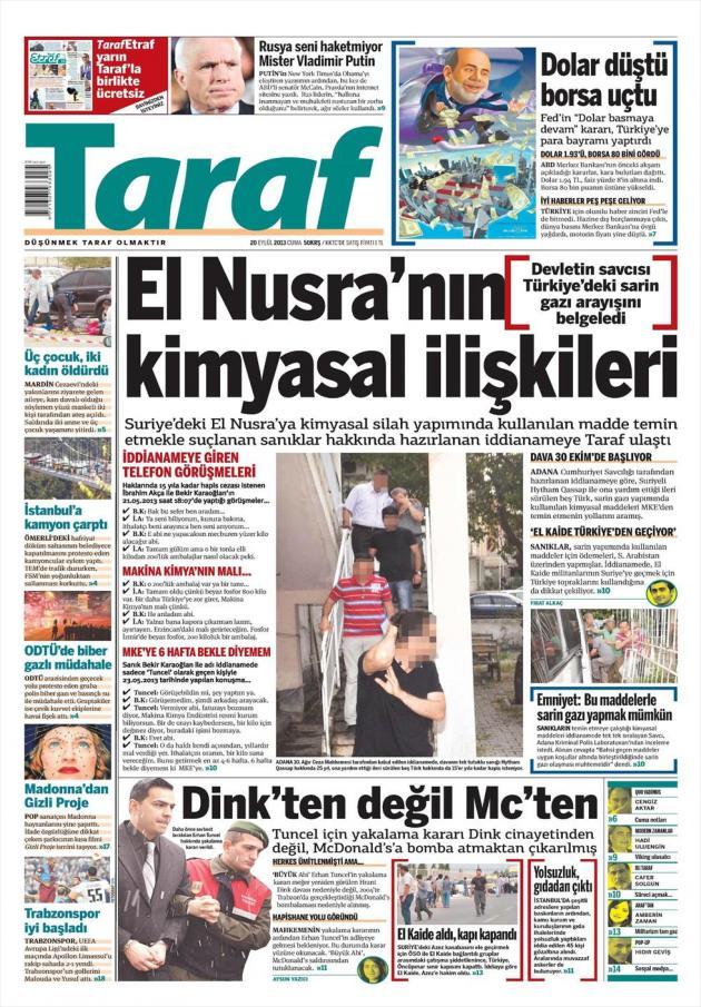 Αποκάλυψη: Οι αντάρτες ισλαμοφασίστες της Συρίας έψαχναν για πολλούς μήνες στην Τουρκία για να αγοράσουν αέριο ΣΑΡΙΝ.