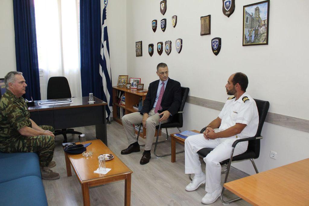 Στη Λέσβο βρέθηκε ο Υφυπουργός Άμυνας Αλκιβιάδης Στεφανής
