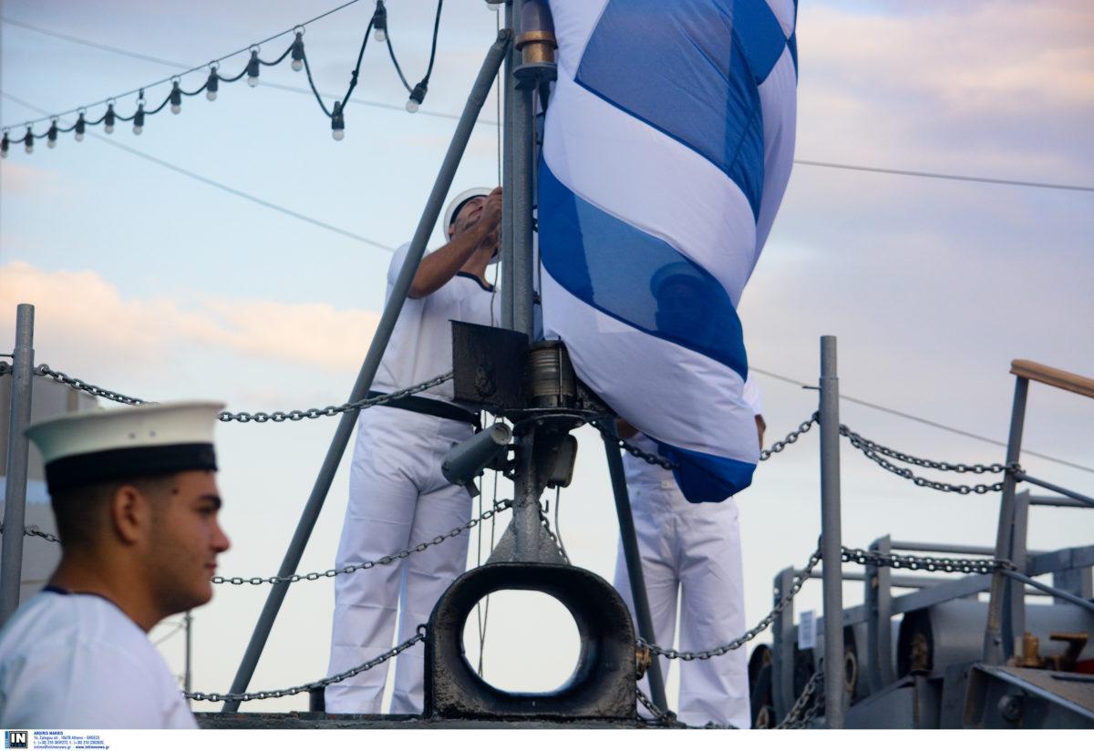 Έπαρση της σημαίας στο θρυλικό αντιτορπιλικό Βέλος..ΕΙΚΟΝΕΣ