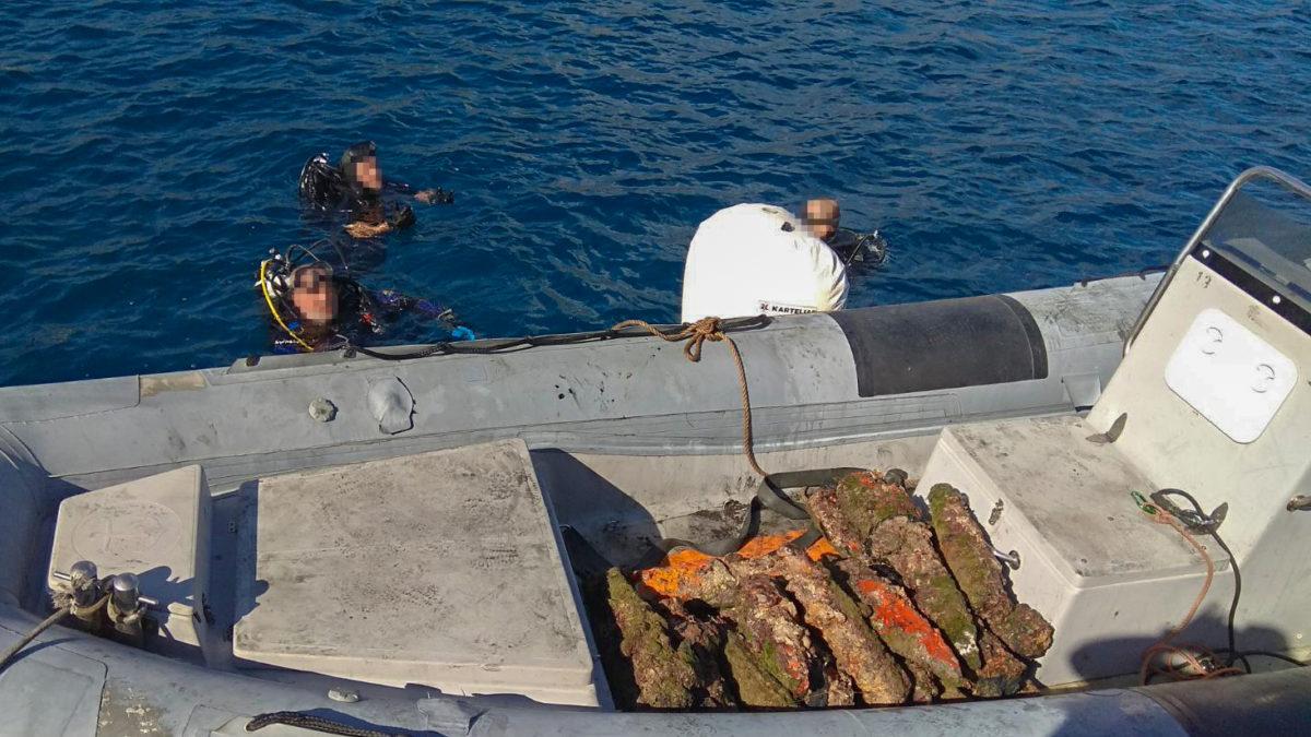 Εξουδετέρωση πυρομαχικών στον κόλπο Μονεμβασιάς (pics)