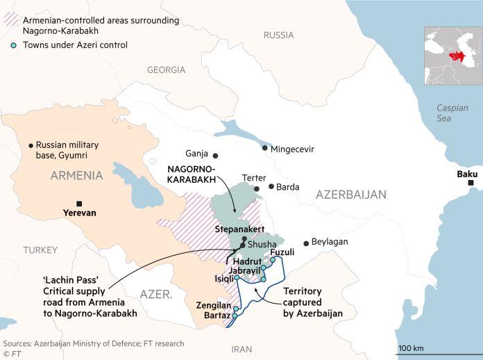 Ναγκόρνο Καραμπάχ: Ισραήλ και Τουρκία κερδίζουν τον πόλεμο για λογαριασμό των Αζέρων