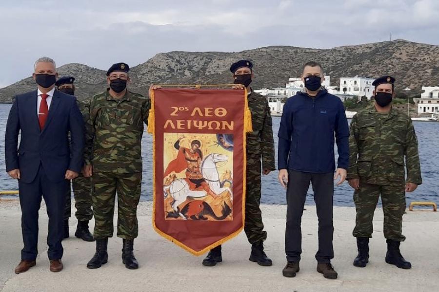 Συμβολική κίνηση ΥΦΕΘΑ: Πρωτοχρονιά στο Φαρμακονήσι έκανε ο Αλκιβιάδης Στεφανής