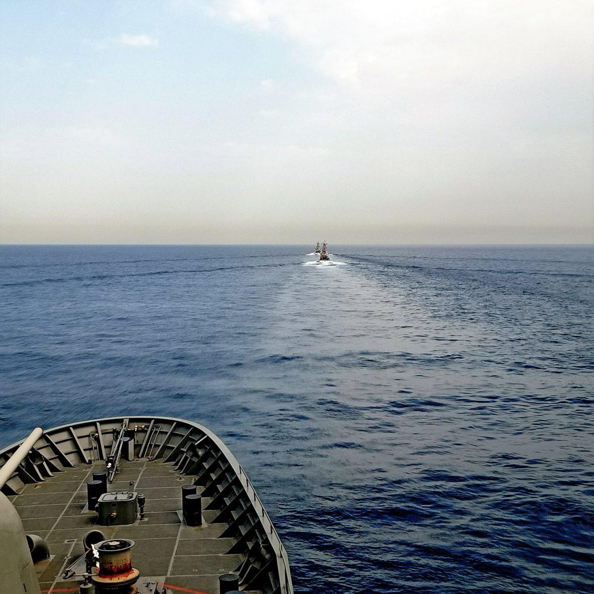 Ασταμάτητη η φρεγάτα «ΥΔΡΑ» – Συνεκπαίδευση με ναυτικές δυνάμεις των ΗΠΑ [pics]