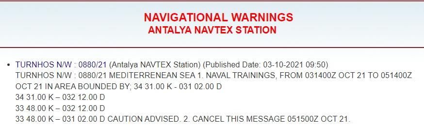 Το τραβάει η Τουρκία: Παράνομη NAVTEX στην περιοχή έρευνας του Nautical Geo